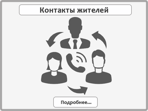 контакты жителей